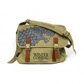 Sac Besace - Game of Thrones - Stark Winter is coming - Marron