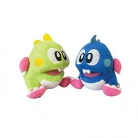 Peluche - Bubble Bobble - Lot de 2 peluches Bubble Bobble 25cm