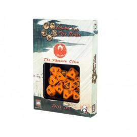 Set de 10 dés - Légende des cinq anneaux - Phoénix Clan
