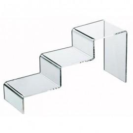 Présentoir Figurine / Pop - Acrylique - Escalier 3 marches