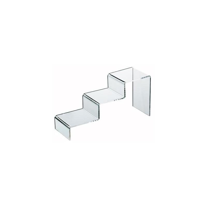 pr sentoir figurine pop acrylique escalier 3 marches oyoo. Black Bedroom Furniture Sets. Home Design Ideas