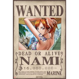 "Poster - One Piece ""Wanted Nami"" 52x38cm"