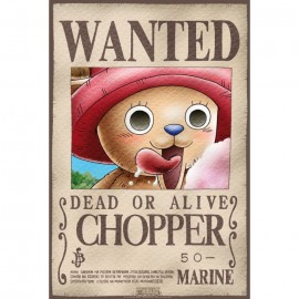 "Poster - One Piece ""Wanted Chopper"" 52x38cm"