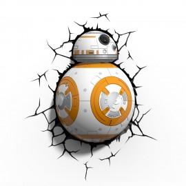 Applique murale 3D Deco Light Star Wars BB-8