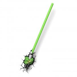 Applique murale 3D Deco Light Star Wars Sabre Laser Yoda