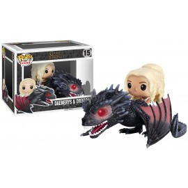 Figurine Game of Thrones - Drogon et Daenerys Pop Rides 15cm