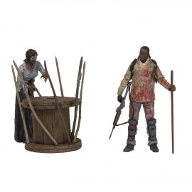 Figurine Walking Dead - Deluxe Pack Morgan with Impaled Walker 13cm
