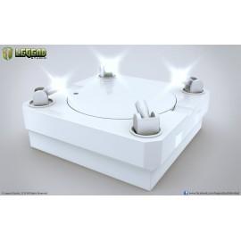 Socle de présentation - Socle Blanc rotatif avec Lumières