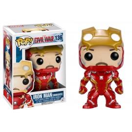 Figurine Captain America Civil War - Iron Man Unmasked Exclusive Pop 10cm