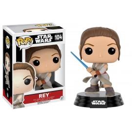 Figurine Star Wars The Force Awakens - Rey with Lightsaber Pop 10cm