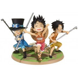 Figurine One Piece - Luffy & Ace & Sabo - A Promise of Brothers - Figuarts Zero - 10 cm