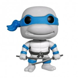 Figurine Tortues Ninja - Leonardo Greyscale Exclu - Pop 10 cm