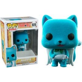 Figurine Fairy Tail - Happy version Flocked - Pop 10 cm