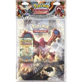 Pokémon - Pack Portfolio A4 XY11 + 1 Booster XY11 Offensive Vapeur