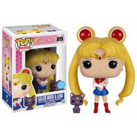 Figurine Sailor Moon - Sailor Moon & Luna Glitter Exclu Pop 10 cm