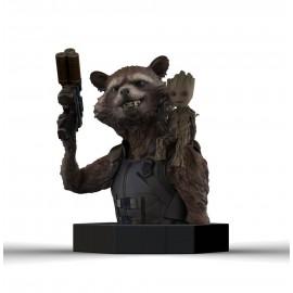 Figurine Les Gardiens de la Galaxie Vol. 2 buste 1/6 Rocket Raccoon & Groot 16 cm