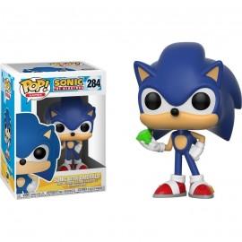 Figurine Sonic The Hedgehog - Sonic with Emerald Pop 10cm