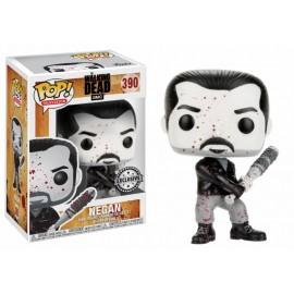 Figurine The Walking Dead - Negan Black & White Bloody Exclusive Pop 10cm