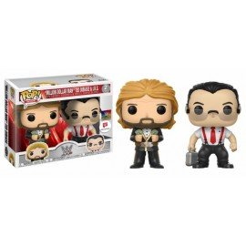 Figurine - WWE - Bi-Pack Million Dollar Man Ted Dibiase & I.R.S Exclusive Pop 10cm