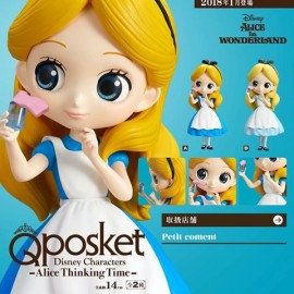 Figurine Q Posket Disney - Alice Thinking Time Normal Color ver.A 14cm