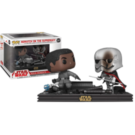 Figurine Star Wars - Bi-Pack Movie Moments Rematch on The Supremacy Finn vs Captain Phasma Exclusive Pop