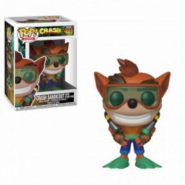 Figurine Crash Bandicoot - Crash Bandicoot with Scuba Gear Pop 10cm