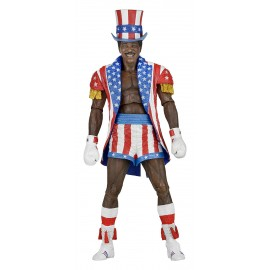 Figurine Rocky IV - Apollo Creed (Uncle Sam Hat And Coat) Version 40th Anniversary 18cm