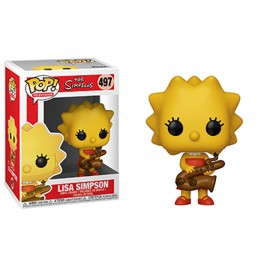 Figurine The Simpsons - Lisa with Saxophone Pop 10cm