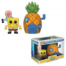 Figurine Bob l'Eponge - Spongebob with Gary & Pineapple House Town Pop 17cm