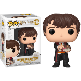 Figurine Harry Potter - Neville Longbottom with Monster Book Pop 10cm