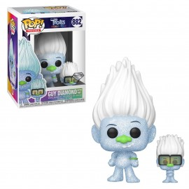 Figurine Trolls World Tour - Guy Diamond with Tiny Pop 10cm