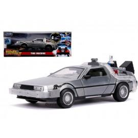 Réplique Retour Vers le Futur 2 - DeLorean Time Machine Hollywood Rides 1/24 métal