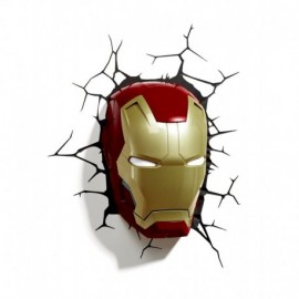 Applique murale 3D Deco Light Masque Iron Man