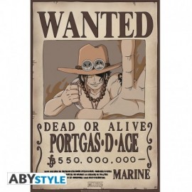 Poster One Piece - Wanted Portgas Ace 52x35cm