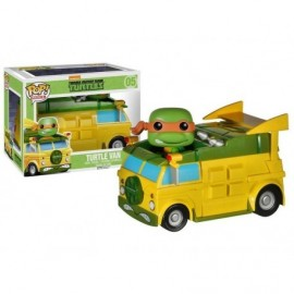 Figurine Tortues Ninja - Turtle Van & Michelangelo Pop 10cm