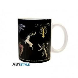 Mug Game of Thrones - Sigles noir céramique 320ml
