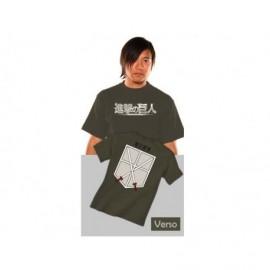 T-Shirt - L'attaque des Titans - Cadet Kaki Taille M