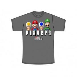 T-Shirt - Nintendo - Players - Gris/noir - Taille M