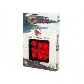 Set de 10 dés - Légende des cinq anneaux - Scorpion Clan