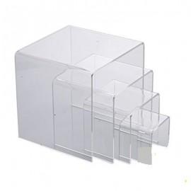 Présentoir Figurine / Pop - Acrylique - Lot de 4