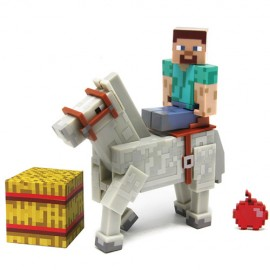 Figurine Minecraft - Steve & Horse White 8 cm