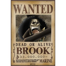 "Poster - One Piece ""Wanted Brook"" 52x38cm"