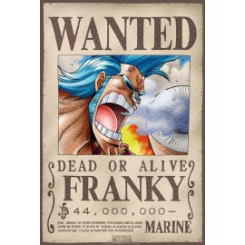 "Poster - One Piece ""Wanted Franky"" 52x38cm"