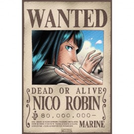 "Poster - One Piece ""Wanted Robin"" 52x38cm"