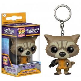 Figurine Guardians of The Galaxy - Rocket Raccoon Porte Clé Pocket Pop 4cm