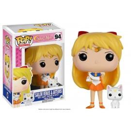 Figurine Sailor Moon - Sailor Venus & Artemis Pop 10cm