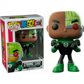 Figurine Teen Titans Go ! - Cyborg as Green Lantern Exclusive Pop 10cm
