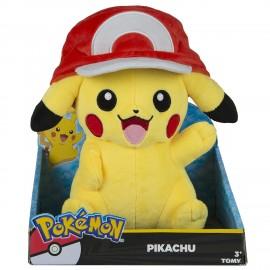 Peluche Pokemon - Pikachu Ash Cap 26 cm